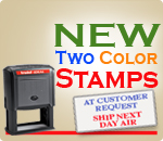 Two Color Rubber Ink Stamps