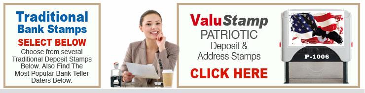 Patriotic Address or Deposit Stamer