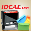 Ideal Self Inking Custom Rubber Stamps Wholesale. Ideal 100 Ink Stamps are $16.98. Ideal 50 is $12.95. Fast ship nationwide.