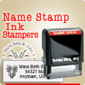 Order Name Address Rubber Stamper here. Personalized Name and Address Stamper. Ideal, Trodat, Shiny, Rubber Stamp brands. Rubber Stamps wholesale. Quick! Easy! Fast! Customized Online.