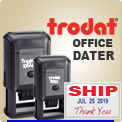 Order Trodat Ink Daters For Home Or Office. Wholesale. Several sizes of Printy Trodat Custom Rubber Dater Ink Stamps round and rectangle.