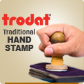 Rubber Ink Stampers with Handle by Ideal Stamp at Wholesale. These Ideal Address and Message Handle Rubber Ink Stampers are available in many sizes