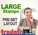 Self Inking Stamps<br>LARGE SIZES A2
