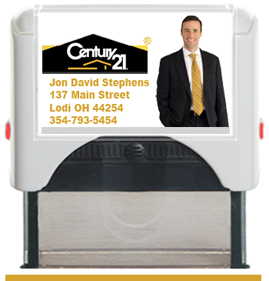 Order this Custom Self Inking Rubber Stamper as a closing gift. For Real Estate Agents of Century 21. Order by 4 PM. Will ship following day.
