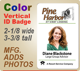 custom imprinted full color employee id badges
