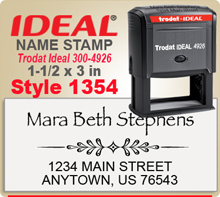 You've come to the right place for creative Name Stamp Rubber Stamps. Choose a font style that you like, enter your personal address city state zip. Note your desired ink and we'll get to work your Ink Sta