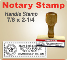 These Trodat Ideal Handle Style Notary Seal Stamp are  extremely durable stampers. They require a stamp pad.Get your order in by 4pm and ships usually in 24 hours.