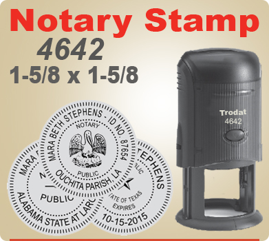 Trodat 4642 Notary Seal Stamp Self Inking