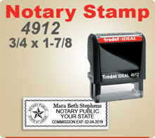 Trodat Ideal 80 4912 Notary Seal Stamp. We offer many kinds of Notary Stamps and Notary items such as Ideal Embossing Seals. We follow all state required layouts.