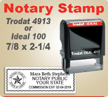 These Trodat Ideal 100 4913 Notary Seal Stamp are  extremely durable stampers. Get your order in by 4pm and ships usually in 24 hours.