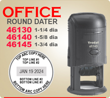 Order Trodat 46140 Daters, Trodat 46130 Daters and Trodat 46145 Daters. Made of a durable composite construction.
