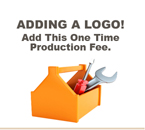 Production Fee. This is a one time custom logo Production Fee associated with Custom Imprinted Name Badges and Custom Engraved Name Badges and Signs.