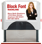 Custom Self Inking Personalized Rubber Stamper designed to be a closing gift for Your Company's Real Estate Agents. Block Font. Order by 4 PM. Ships next day.