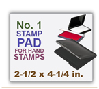 Inked Rubber Stamp Pad No 1 size for Handle Rubber Stamps. Has a heavy duty felt pad. 2-1/2 x 4-1/4 in.