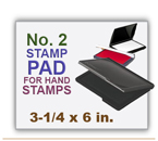 Inked Rubber Stamp Pad No 1 size for Handle Rubber Stamps. Has a heavy duty felt pad. 3-1/4 x 6 in.