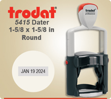 Trodat 5415 Professional Dater With Metal Frame. This Dater is usually shipped to you next day if order in by 4 PM Central.