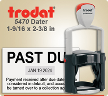Trodat 5470 Professional Dater With Metal Frame. This Dater is usually shipped to you next day if order in by 4 PM Central.