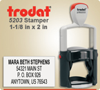 Order Trodat Professional Self Inking Rubber Stamp No. 5203 online – This Trodat Stamper has a 1-1/8 x 2 inch impression area.