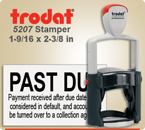 Order Trodat Professional Self Inking Rubber Stamp No. 5200 online – This Trodat Stamper has a 1-9/16 x 2-3/8 inch impression area.