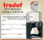 Order Trodat Professional Self Inking Rubber Stamp No. 5211 online – This Trodat Stamper has a 2-5/32 x 3-5/16 inch impression area.