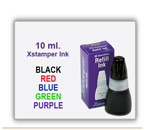 Xstamper Ink for genuine Xstamper Pre Inked Stamp in 10 ml size.